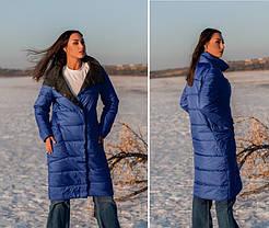 Модная женская удлиненная куртка с воротником под горло, больших размеров  XL,2XL,3XL,4XL.5XL, фото 3