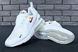 Кроссовки Nike Air Max 270 x Off White, кроссовки найк аир макс 270 офф вайт, кросівки Nike Air Max 270, фото 4