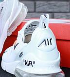 Кроссовки Nike Air Max 270 x Off White, кроссовки найк аир макс 270 офф вайт, кросівки Nike Air Max 270, фото 9