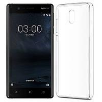 Чехол силиконовый прозрачный для Nokia 3, 0.5mm