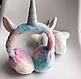 Хутряні навушники для дівчаток A fabulous unicorn, фото 4