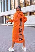 """Трикотажное асимметричное платье """"DIESEL"""" с капюшоном и карманом-кенгуру, фото 3"""