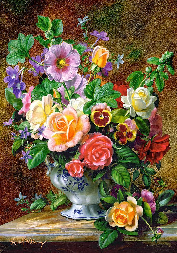 Пазлы на 500 элементов (47 х 33 см) Цветы в вазе (букет) (Castorland, Польша)