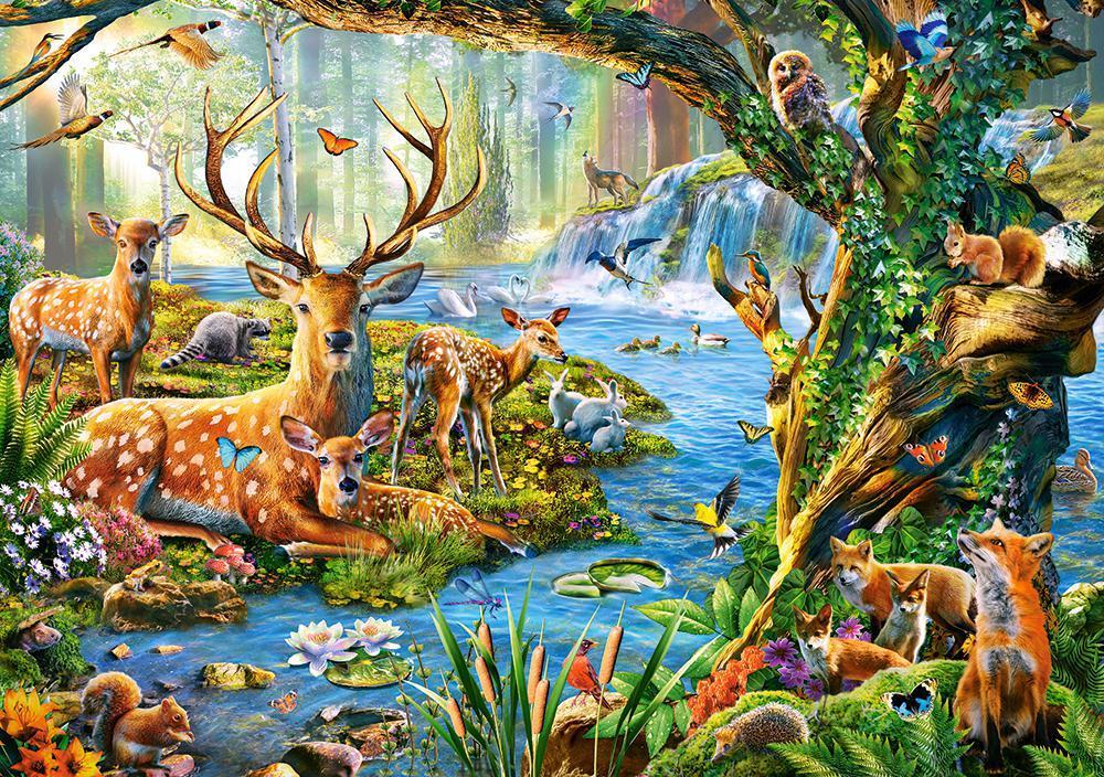 Пазлы на 500 элементов (47 х 33 см) Лесная жизнь (животные) (Castorland, Польша)