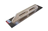 Полутер нержавейка с деревянной ручкой прямой 130х580мм