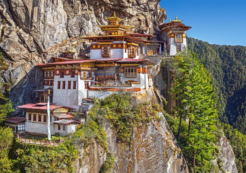 Пазлы на 500 элементов (47 х 33 см) Вид на монастырь Такцанг, Бутан (Castorland, Польша)