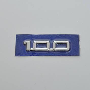 """Эмблема - надпись   """"100"""" (новая)  скотч 92x20 мм (5695)"""
