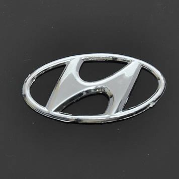 "Эмблема  ""Hyundai"" Accent перед/зад/скотч/маленькая (98-2003) 80х41мм"