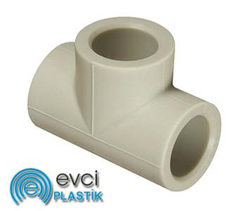 Тройник Evci Plastik 25 полипропиленовый