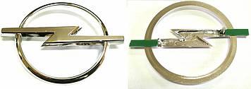 "Эмблема  ""Opel""  78х105мм\пластик\хром\2 пукли (Astra 95-...)"