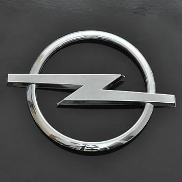 "Эмблема  ""Opel"" Vectra C (Combo) зад/пластик/скотч/хром/ровная 100х131мм"