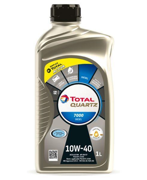 Моторное масло Total Quartz 7000 Diesel 10W40 (1л) API SL/CF, ACEA A3/B4