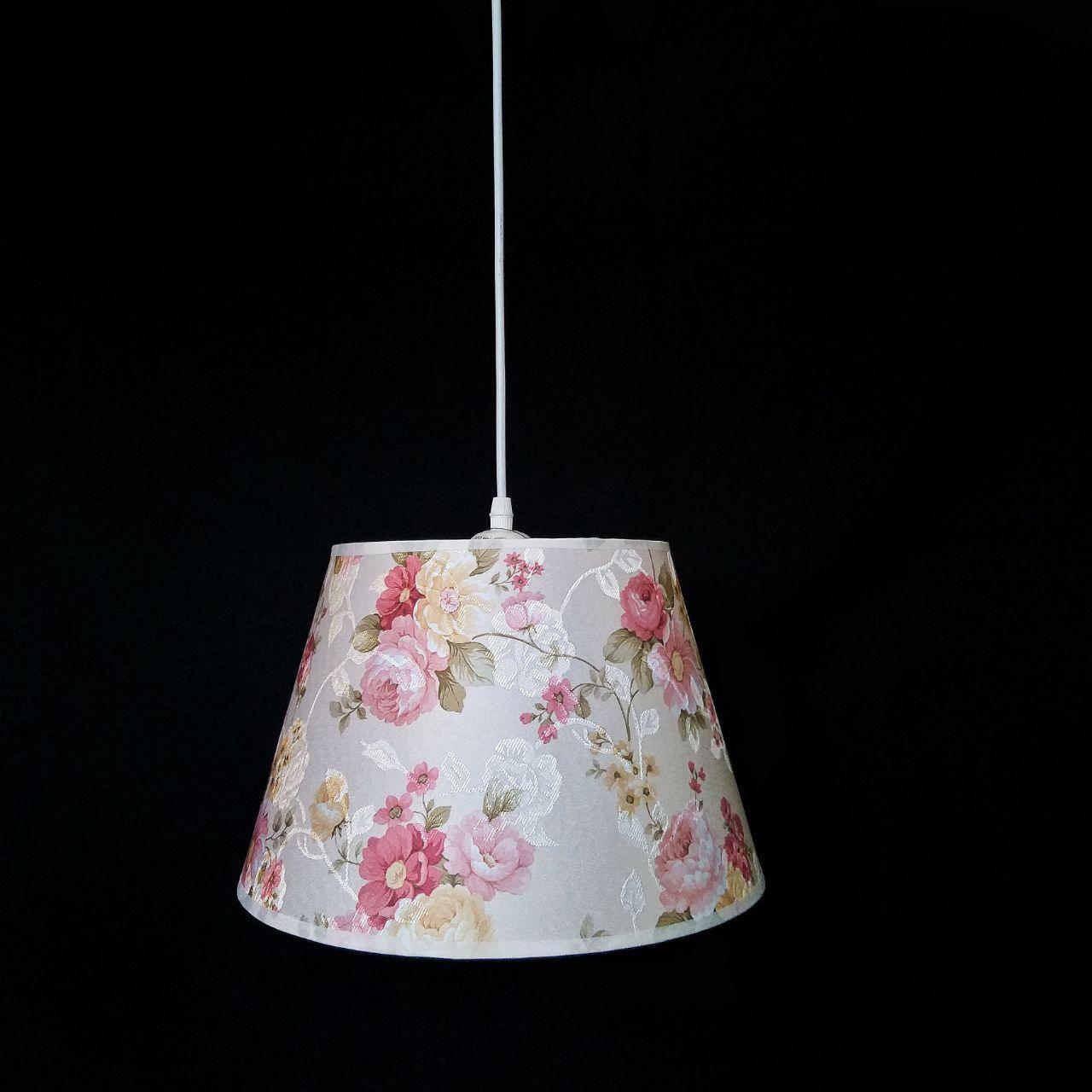 Люстра подвесная на 1 лампу цветочная 29-S320/1 WT+WT(1шт) E27 TK