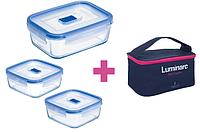 Набор контейнеров с сумкой LUMINARC PURE BOX ACTIVE, 3 шт