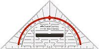 Многофункциональный треугольник со съемным держателем 14 см, Faber-Castell, 177199