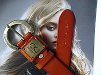 Женский кожаный ремень Calvin Klein рыжий, фото 1