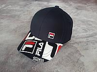 Стильная черная кепка Fila, фото 1