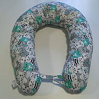 Подушка для беременных и кормления ребенка банан (бумеранг) с фиксатором-липучкой