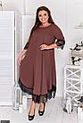 Сукня коричневий Осінь Україна 48 великого розміру 881917-3, фото 2