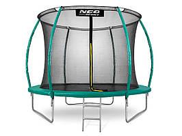 Батут NeoSport 430 см с внутренней сеткой и лесенкой