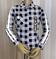 {есть:146} Рубашка в клетку Tik Tok для девочек,  Артикул: I991-серый [146]