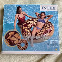 Яркий надувной круг пончик (Donut) Intex для отдыха на море и в бассейне
