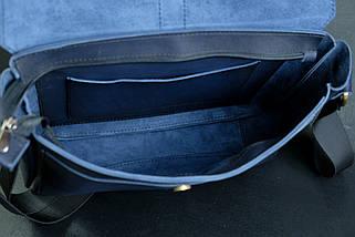 """Мужская сумка """"Модель №53"""" Кожа Итальянский краст цвет Синий, фото 3"""