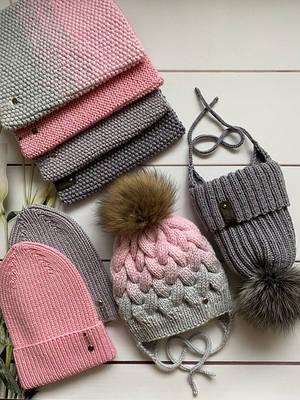 Демисезонные и зимние шапки и наборы ручной работы. В наличии.