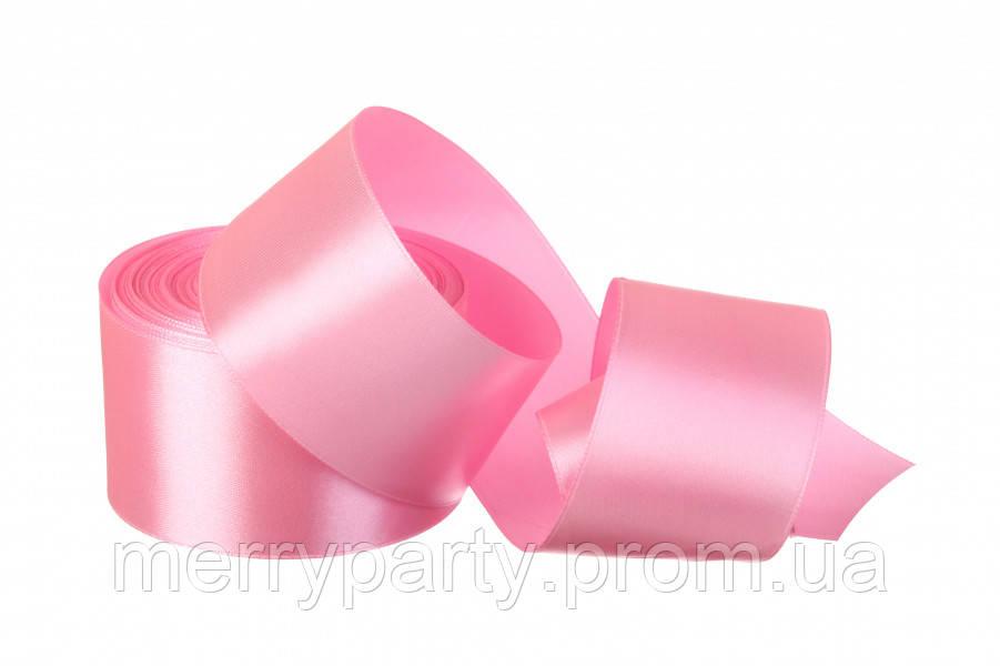 50 мм  атласная лента розовая  (23 м) 147