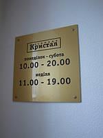 Фасадная табличка на ПВХ пластике (2201) 300х200 мм