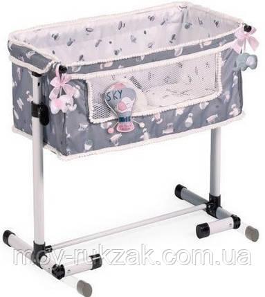 Кровать-манеж для кукол, DECUEVAS, 50х34х50 см, 51235, фото 2