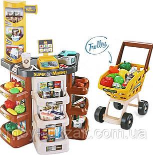 Детский игровой супермаркет, касса, тележка, звуковые эффекты, 668-77, фото 2