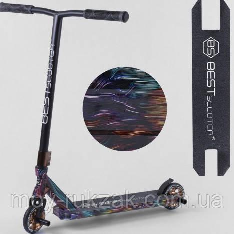Самокат трюковый Best Scooter 58145, HIC-система, алюминиевый диск, пеги