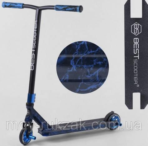 Самокат трюковый Best Scooter 68706, HIC-система, алюминиевый диск, пеги