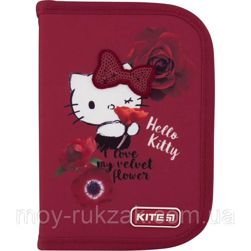 Пенал твердый без наполнения 1 отделение, 1 отворот, Kite Education Hello Kitty, HK20-621-1