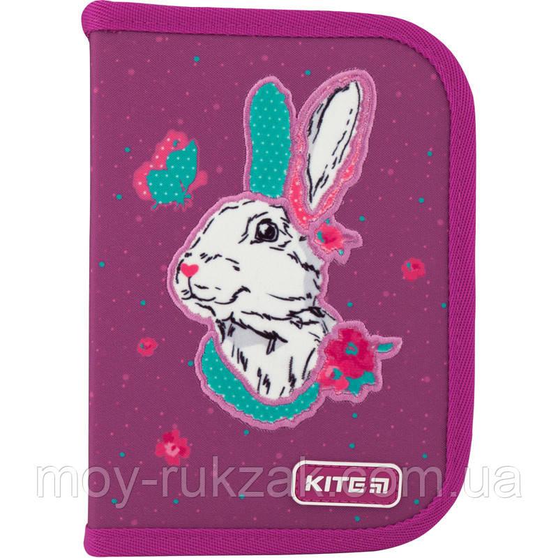 Пенал твердый без наполнения 1 отделение, 2 отворота, Kite Education Bunny, K20-622-5