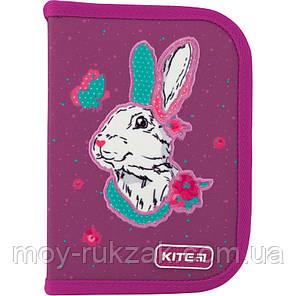 Пенал твердый без наполнения 1 отделение, 2 отворота, Kite Education Bunny, K20-622-5, фото 2