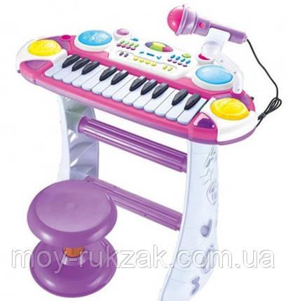 Детский игровой синтезатор на ножках со стульчиком, Joy Toy, 7235, розовый, фото 2