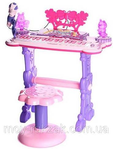 Детский игровой синтезатор на ножках со стульчиком, 6618