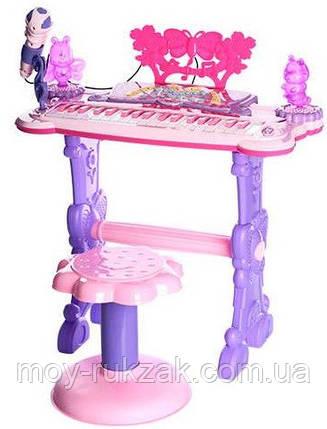 Детский игровой синтезатор на ножках со стульчиком, 6618, фото 2