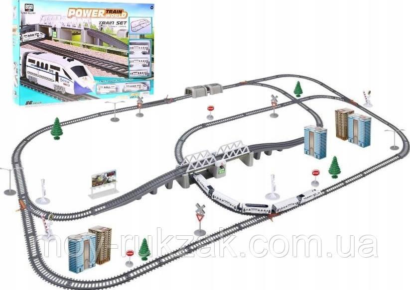 Игрушечная железная дорога со световыми эффектами, 914 см, 2181