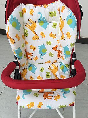 Вкладыш матрасик в коляску, в автокресло, в стульчик для кормления Зоопарк, фото 2