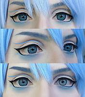 Цветные голубые линзы. Красивые голубые линзы для глаз. Натуральные голубые линзы.Контактные цветные линзы