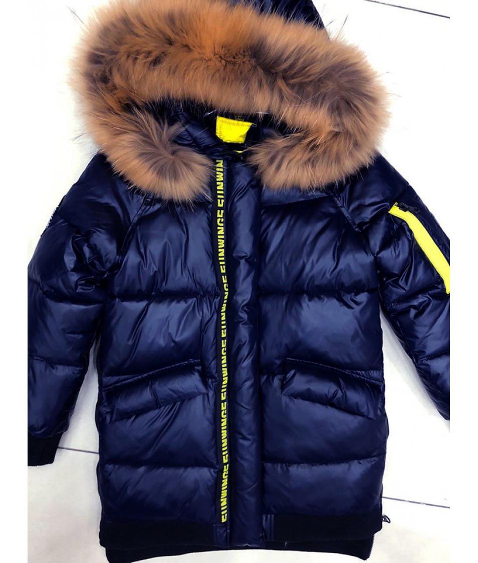 Зимняя куртка для девочки последний размер 140
