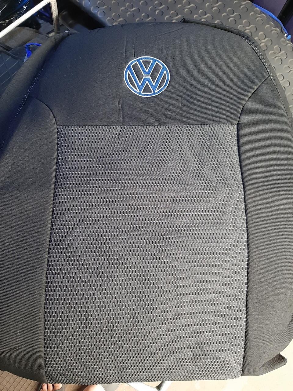 """Чехлы на Volkswagen T5 (1+1) Transporter Van 2003- / авто чехлы Фольксваген Т5 """"EMC Elegant"""""""