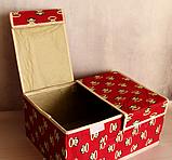 Органайзер для хранения вещей 2 секции 36см*26*см*17см, фото 4