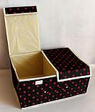 Органайзер для хранения вещей 2 секции 36см*26*см*17см, фото 6