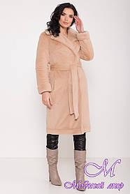 Жіноче зимове пальто зі штучного хутра (р. S, M, L) арт. З-8641/44956