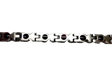 Узкий браслет с красными цирконами, фото 2