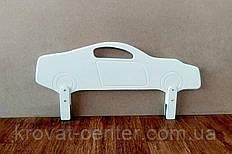 """Белый защитный бортик для кроватки из МДФ """"Машинка Ferrari"""" 90 см."""